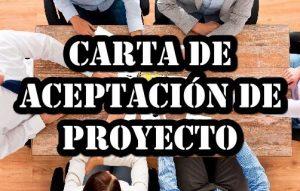 Carta de aceptación de un proyecto