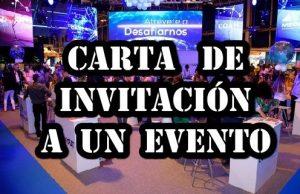 Carta de invitación a un evento