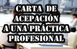 Carta aceptación de prácticas profesionales