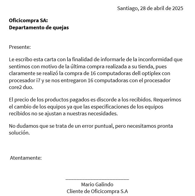 Carta De Inconformidad Cómo Redactarla Ejemplo Modelo Etc